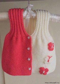 Kız Bebek Yelek Modelleri - Minik Prenseslere 40 Adet Kız Bebek Yelekleri Always wanted to discover how to knit, but uncertain the place to begin? This specific Utter Beginner Knitting Series is. Baby Knitting Patterns, Knitting For Kids, Crochet For Kids, Knitting Designs, Baby Patterns, Crochet Baby, Knit Crochet, Knit Baby Sweaters, Knitted Baby Clothes