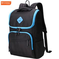 Aoking 2017 New 16 inch Laptop Backpack Daily Rucksack Men Computer Bagpacks Unisex School Bags for teenager College Student