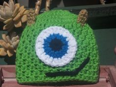 Crochet Monsters Inc Mike Wazowski Beanie Hat - Etsy $13.00
