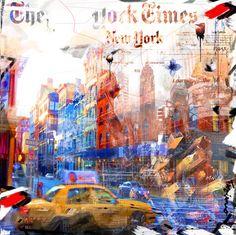 Nelson Fabiano – Un Reve a NY Broadway – Eden Fine Art Gallery Street Graffiti, Street Art, Art Journal Backgrounds, Background Diy, Watercolor Landscape, Fine Art Gallery, Artist Painting, Art Drawings, Art Projects