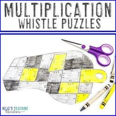 MULTIPLICATION Whistle Math Puzzle | FUN Sports Math Centers for Review or Games | 3rd, 4th, 5th grade, Activities, Basic Operations, Games, Homeschool, Math, Math Centers, Mental Math Math Math, Maths Puzzles, Multiplication, 5th Grade Classroom, Special Education Classroom, Reading Recovery, Ell Students, Basic Math, Homeschool Math