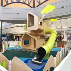 Bespoke Indoor Timber Playground 500 million+ members Kids Indoor Playground, Playground Design, Kids Play Area Indoor, Kids Play Spaces, Learning Spaces, Play Areas, Cool Playgrounds, Kids Cafe, Kids Room Design