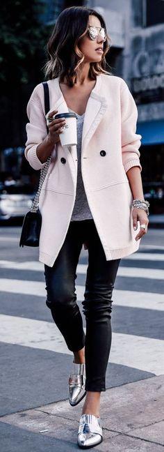 DUFFY NY cardigan   J BRAND leather pants