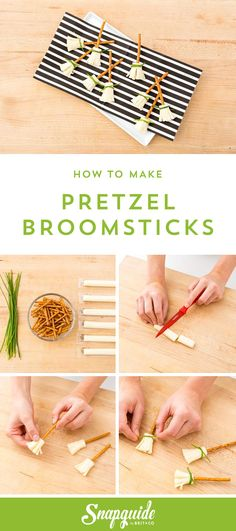These pretzel broomsticks are wickedly good! Make your own with this recipe.