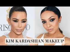 Kim Kardashian Makeup Tutorial - Cannes Makeup Look - TrinaDuhra - makeupmore_pintennium Makeup Tutorials Youtube, Makeup Tutorial For Beginners, Make Up Looks, Old Lady Makeup, Cannes, Kim Kardashian, Smokey Eye Makeup Tutorial, Hair Beauty, Lipstick