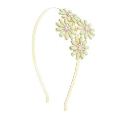 Mint Stone Flower Gold Headband, 3 for 2, Garden Party, Party Hair, all, Headbands, Hair, Headbands, Headbands, Buy One Get One 50%, Hair, View All Fashion trends, accessories and jewellery for young women