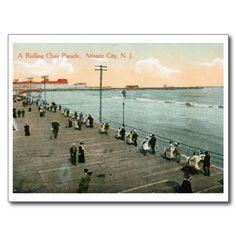 Rolling Chair Parade, Atlantic City, NJ Vintage Postcard