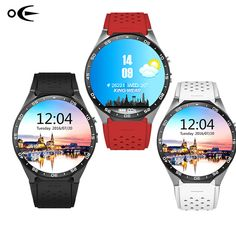 2017 Hot kingwear Kw88 android 5.1 OS Smart watch 1.39 inch 400*400 SmartWatch phone support 3G wifi nano SIM WCDMA Heart Rate