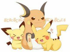 Cute :) Pichu, Pikachu, and Richu Pokemon Gif, Pokemon Ships, Type Pokemon, Pokemon Images, All Pokemon, Pokemon Pictures, Pokemon Cards, Pichu Pikachu Raichu, Cute Pikachu