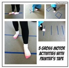 PT Activities of the Week: 5 Gross Motor Activities with Painter's Tape   - Repinned by @PediaStaff – Please Visit ht.ly/63sNtfor all our pediatric therapy pins
