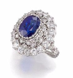 A sapphire and diamond ring, Buccellati