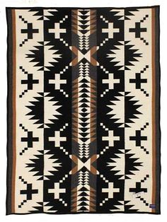 Pendleton Navaho Black and white Blanket