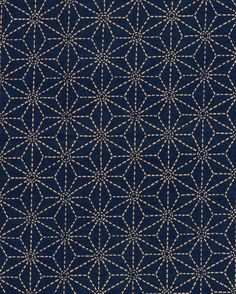 INDIGO ASANOHA SEVENBERRY JAPANESE COTTON FABRIC 36  long x 43  wide