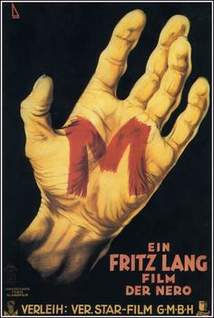 Fritz Lang's 1931 M Movie Poster