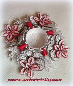 Beautiful candle holder. To co robię i co lubię: Quillingowy świecznik-ozdoby na Boże Narodzenie