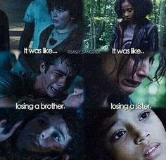 I cried more when Chuck died in The Maze Runner, and when Rue died in the Hunger Games. Maze Runner Funny, Maze Runner Cast, Maze Runner Movie, Maze Runner Quotes, Maze Runner Trilogy, Maze Runner Series, Fandom Quotes, Dylan Thomas, Thomas Brodie
