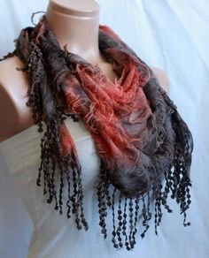 Multi-Brown Shawl Scarf - Little Things Store $15.90
