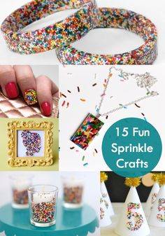 Crafting with Sprinkles - 15 Fun and Easy Ideas