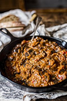 This Russian eggplant caviar is a silky smooth vegetable spread that is delicious as a warm side dish or as a tasty topping for your crusty bread!
