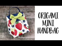 Origami Mini Handbag with Video Tutorial - The Paper Pixie