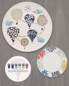 Plate collection designed for week 2 Make Art that Sells e-course Home Decor | Sophie Dufresne | http://www.sophiequi.com