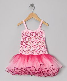 Playful pixies love tumbling in this stretchy sparkled leotard. Sprite-perfect sequins and a flouncy tulle skirt complete the enchanting look.