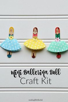 This DIY Kids Craft Kit Stick Dolls is just one of the custom, handmade pieces you'll find in our learning & school shops. Popsicle Stick Crafts For Kids, Cute Kids Crafts, Craft Kits For Kids, Craft Stick Crafts, Toddler Crafts, Creative Crafts, Diy For Kids, Mini Craft, Craft Ideas