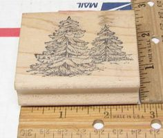FIR TREES STANDING BY GREAT IMPRESSIONS RUBBER STAMP #GREATIMPRESSIONS #rubberstamp Fir Tree, Stamps, Trees, Things To Sell, Nature, Crafts, Ebay, Seals, Naturaleza