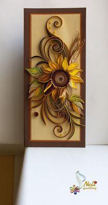 neli: Quilling card - I love sunflowers ( 9 cm - 20 cm )