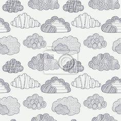 Papier peint nuages seamless - sans couture • PIXERS.fr