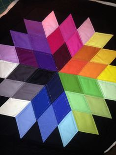 Rock Candy Quilt by JayBird Quilts! Color spectrum.