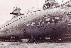 SSBN-657 Francis Scott Key in dry dock 1970