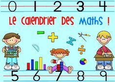L'univers de ma classe: Le calendrier des maths (très nombreux rituels en maths!