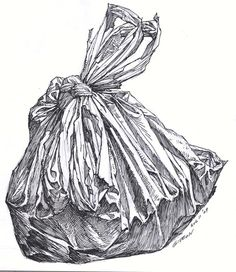 """Waste"" ` Good idea for homework or observational drawing."