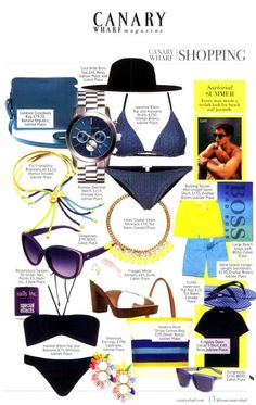 Ted Baker Footwear in Canary Wharf Magazine 01.07.14