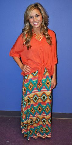 loving the bright colors. love the combo of the top with the maxi