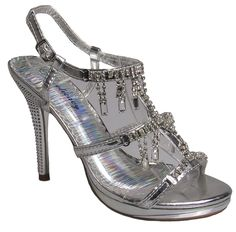 Delicacy Womens Marvelous-41 Silver party shoe 8.5 D(M) US >>> You can find out more details at the link of the image.