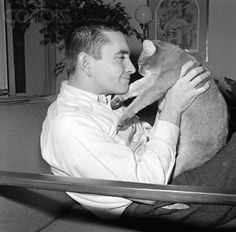"""Edward Albee and his cat """"Boy"""": 1963    Edward Albee, 11th Annual Inge Festival honoree"""
