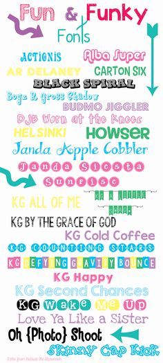Favorite Fun  Funky Fonts from Tales from Outside the Classroom