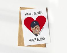 Liverpool FC Anniversary Card, YNWA Happy Anniversary, Jurgen Klopp I Love You Card, Hilarious Anniversary Cards for him and her Xmas Greeting Cards, Xmas Greetings, Funny Christmas Cards, Christmas Humor, Love Cards For Him, Funny Love Cards, Anniversary Cards For Him, Anniversary Funny, Funny Valentine