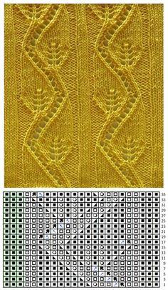 Lace Knitting Stitches, Lace Knitting Patterns, Knitting Charts, Lace Patterns, Loom Knitting, Baby Knitting, Stitch Patterns, Hand Embroidery Designs, Crochet Yarn