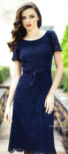 Blue Lace Dress <--- @Emilie Claeys Claeys Murphy , you keep finding me the PERFECT clothes! Lobe ya girl <3