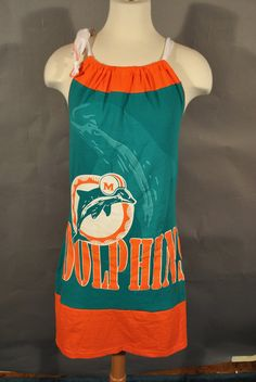 Miami Dolphins nfl football teal halter SHIRT Mini by twochixremix. , via Etsy.