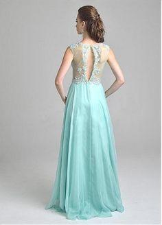 Junoesque Silk Like Chiffon & Stretch Satin A-Line Prom Dresses #July Sale