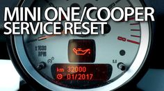 How to #reset #service reminder in Mini One / #Mini #Cooper MK1 #maintenance #cars
