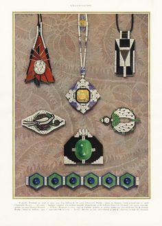 Jewels Art Deco P2 1927 Dusausoy, Aucoc, Chaumet, Georges Fouquet, G-R Sandoz, Mauboussin