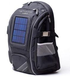 Plecak solarny z nadrukowanym logo / Solar backpack with printed brand
