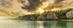 The Scarborough Bluffs, also known as The Bluffs, are an escarpment in the Scarborough district of Toronto, Ontario, Canada