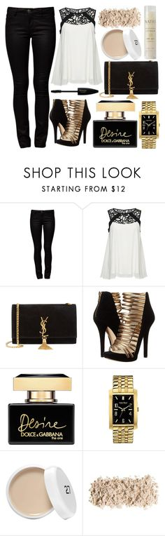 """""""#19"""" by oneandonlyfashion ❤ liked on Polyvore featuring ONLY, Yves Saint Laurent, MICHAEL Michael Kors, Dolce&Gabbana, Caravelle by Bulova and Natio"""