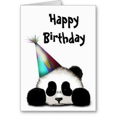 Cute panda animal birthday greetings card sarahs 10th birthday party panda greeting cards bookmarktalkfo Image collections